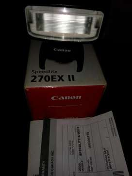 flash canon en caja 270EX II vendo o cambio