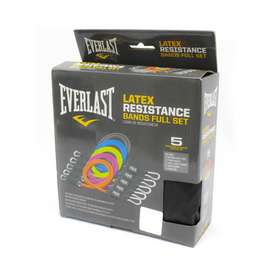 Set De Bandas Everlast Latex Resistance Bands Full Set