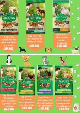 PURINA DOG CHOW 22 Y 17 KILOS AL POR MAYOR Y DETAL
