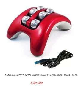 Mini masajeador de pies recargable con vibracion masajes electrico