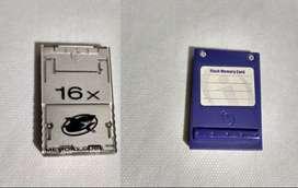 2 Memory cards nintendo Game Cube tarjeta de memoria