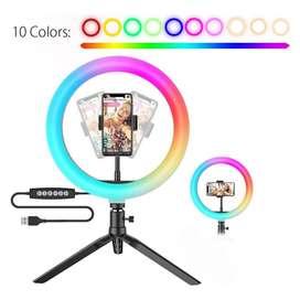 Aro de luz led RGB 26cm