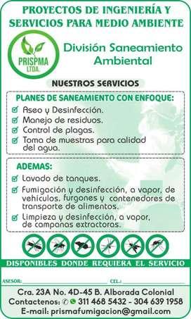Planes de Saneamiento control de Plagas