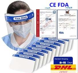 Mascara Facial Face Shield Fda Ce - Envío Dhl Internacional