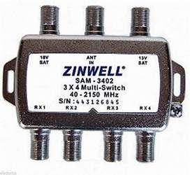 multiswitch directv 3X4 ZINWELL