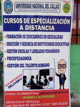 CURSOS DE ESPECIALIZACIÓN A DISTANCIA
