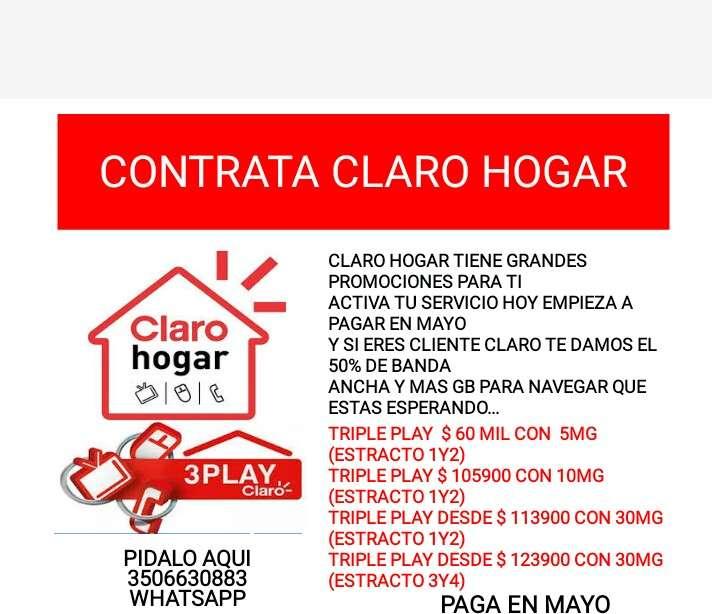 CONTRATA LOS SERVICIOS DE CLARO HOGAR Y MÓVIL 0