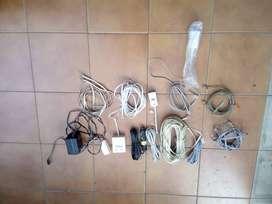 Cables telefónicos y fichas