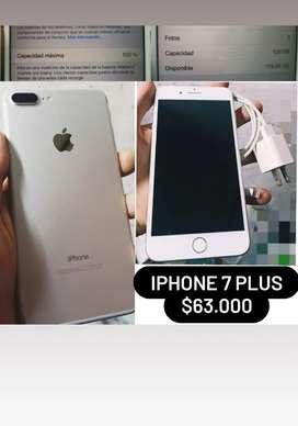 iphone 7 plus...128gb...100% bateria