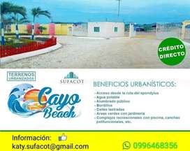 Por Liquidación Solo Venta de Contado, Lotes de 200m2 a 6.000 Usd, Cayo Beach en Puerto Cayo Manabi Ecuador | SD2