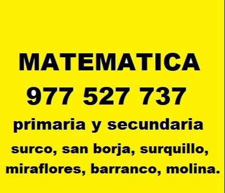 PROFESOR PARTICULAR DE MATEMATICA, FISICA Y QUIMICA A DOMICILIO. 0