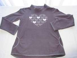 Buzo polar con cuello polera para nena, marca europea!, impecable!