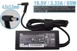 Cargador laptop Hp Punta Azul 19.5v 3.33A 65 Watts