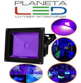 Reflector Lampara Led Luz Uv Negra 20w 30w 50w Glow Neon