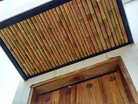 Pérgolas de bambu, esterilla