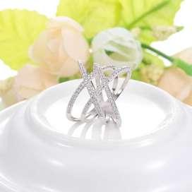 anillo entrelazado talla 8