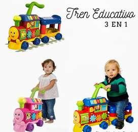 Tren didáctico educativo 3 en 1