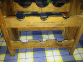 Vinotecas apilables de madera x 4