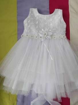 Vestido de bautizo para niña talla 1