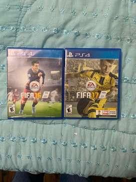 JUEGOS FIFA 16 y 17 ORIGINALES