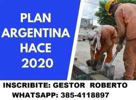 TRABAJA AHORA PLAN ARGENTINA HACE
