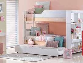Camarote casi nuevo (con nido). Tamaño camas: sencillas. Gangazo imperdible.