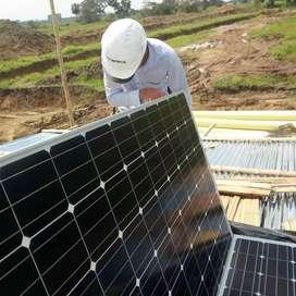 Instalacion de panales fotovoltaicos
