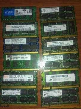 Memoria ddr2 de 2gb para portatil