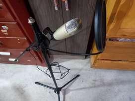 Micrófono usb parante para microfono filtro de voz y audifonos