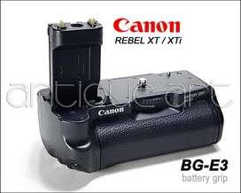 A64 Battery Grip Canon Bg-e3 Para Rebel Xt Xti Pilas Aa