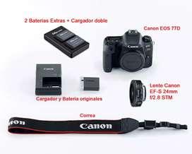 Canon 77D + Canon 24mm f2.8 STM + accesorios