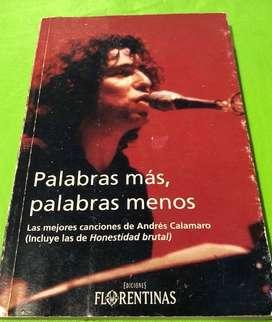Palabras más , palabras menos / Libro Andrés Calamaro