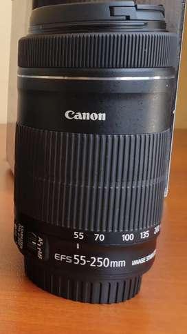 Lente canon 55 - 250