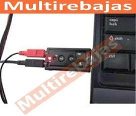 Tarjeta Conector Adaptador Audio Sonido Usb Mic 7.1 Dj Mix Pc Laptop