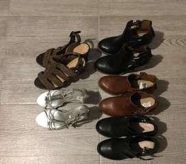 Botines y sandalias de medio uso