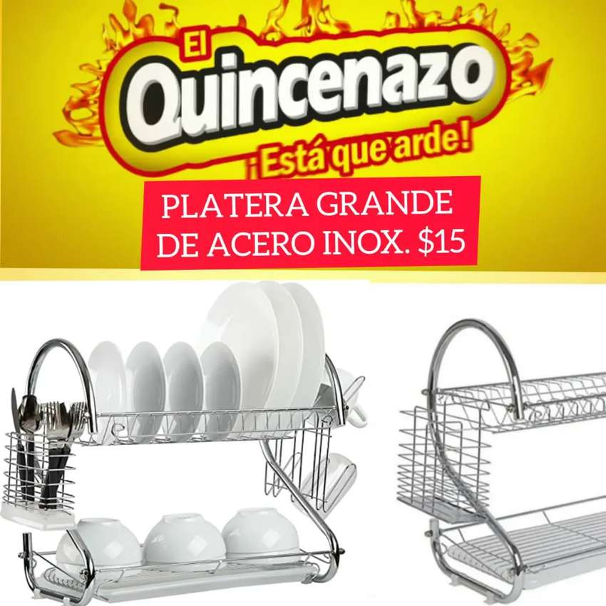 Platera acero inoxidable 0