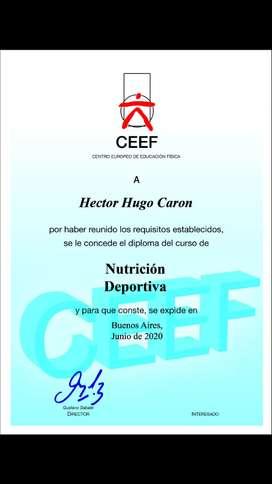 NUTRICION-DEPORTIVA E INSTRUCTOR DE MUSCULACION Y CULTURISMO