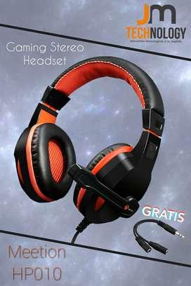 Audifono Gamer Microfono Headset Ps4 Xbox Pc Laptop Celular Meetion HP010 REGALO