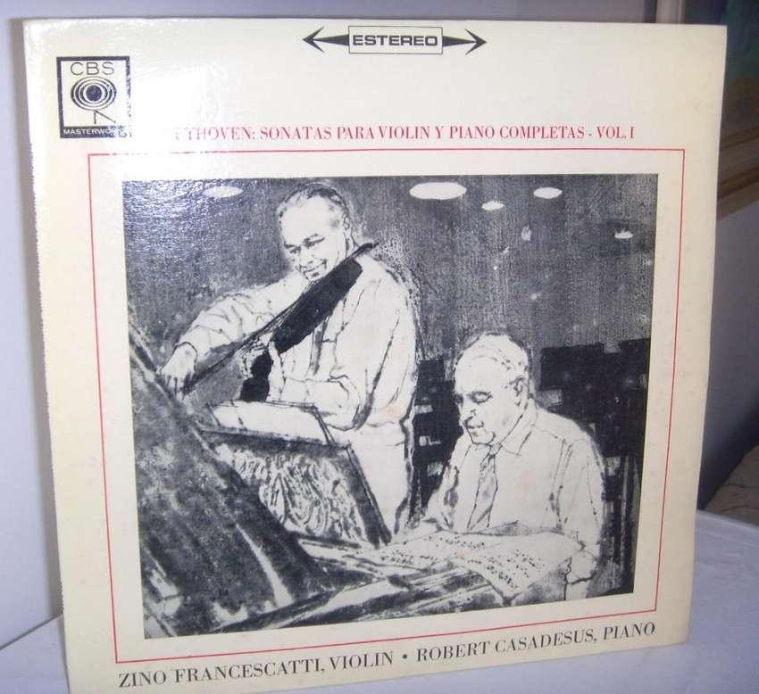 Disco De Vinilo L P Beethoven Sonatas para violín Y Piano 0