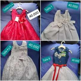 Vendo lindos vestidos de niña de diferentes colores y estilos