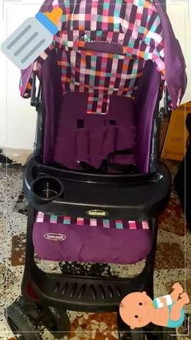 Coche +silla de Auto, para niña