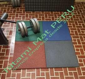 Piso de CAUCHO Gym CrossFit Gimnasios para Pesas, Máquinas, PERU