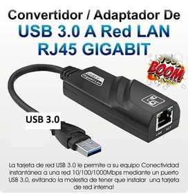 Tarjeta Convertidor Adaptador Usb 3.0 A Rj45 Red Lan Gigabit