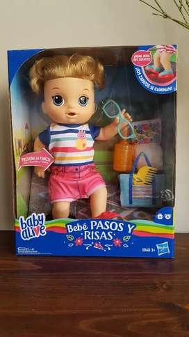 Muñeco Baby Alive primeros pasos !!