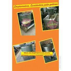 desplumadora freidor trilladora  despulpadora marmita horno ahumador silo dosificador clasificadora  licuadora