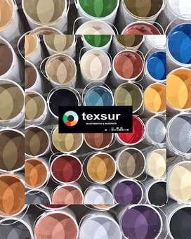 Revestimiento plástico texturado marca Texsur (tipo tarquini)