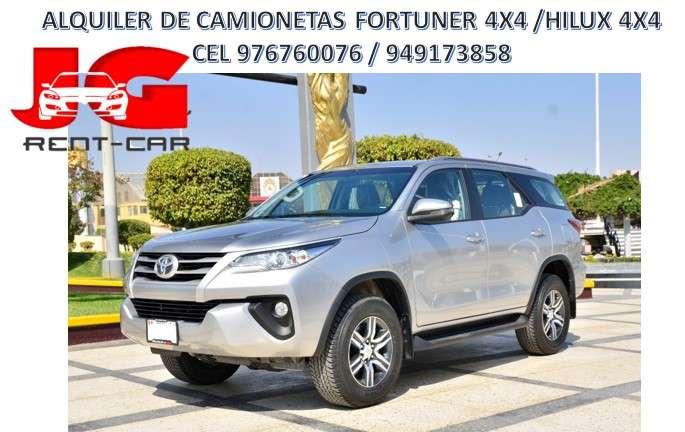 ALQUILER DE CAMIONETAS FORTUNER 4X4 , ALQUILER DE TOYOTA HILUX 4X4