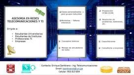 Asesoria/clases De Networking, IT y  Telecomunicaciones