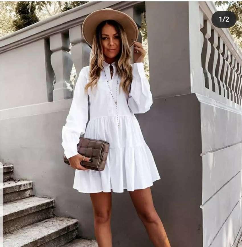 Vestido color blanco de moda