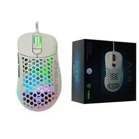 Mouse Gamer Vsg Aquila Blanco Brillante 16000 Dpi 6 Botones